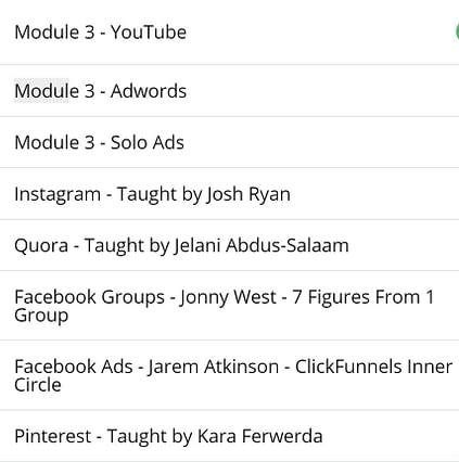 affiliate secrets training modules